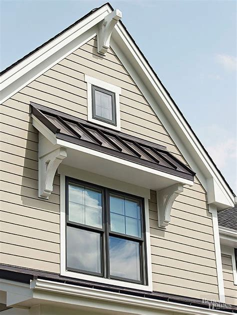 garage curb appeal   detached garage office window awnings exterior house colors