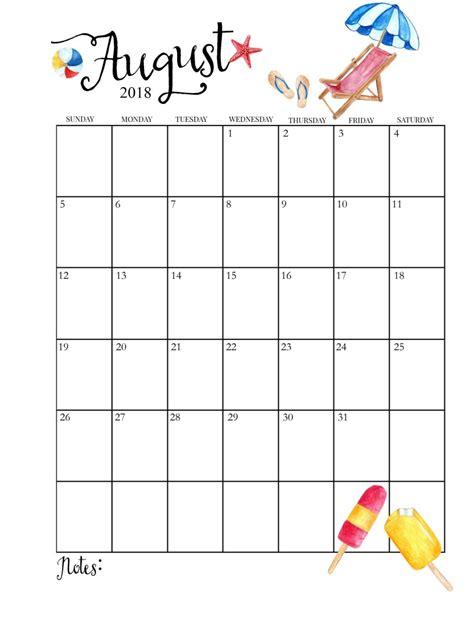 august calendar template printable august 2018 calendar calendar