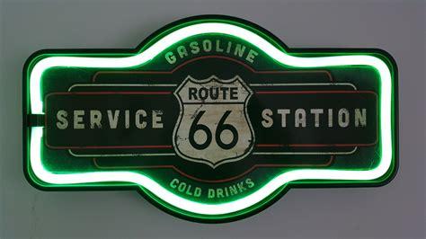Enseigne Led Route 66 Station