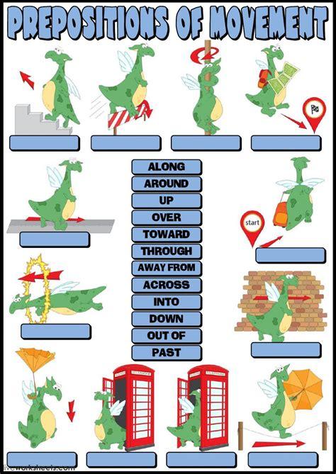 prepositions  movement worksheet