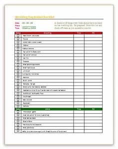 Access Templates 2007 Wedding Day Checklist Template For Bridal Dotxes