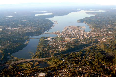 olympia wa aerial view of olympia and puget sound photo