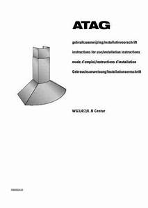 Atag Wg 3 B Cooker Hood Download Manual For Free Now