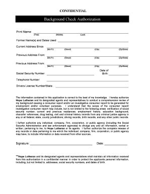 Free Printable Background Check Forms - Fill Online