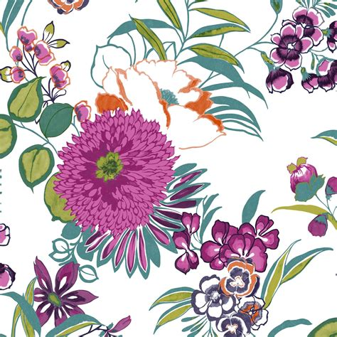 colours cocktail floral wallpaper departments