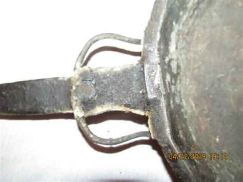 primitive hand hammered copper fry pan ebay