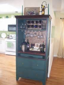 armoire cabinet into a bar furniture entertainment center decor on