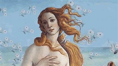 Animated Painting Famous Gifs Venus Artist Paintings