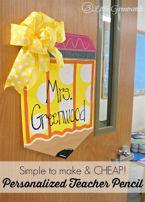 personalized teacher pencil door hanger