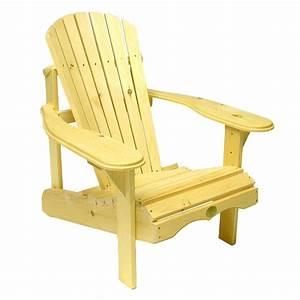 The Bear Chair Company BC201P White Pine Muskoka Chair