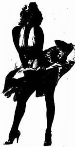 Marilyn Monroe Silhouette Kathryn dresser Pinterest