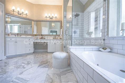 calacatta gold marble bathroom austin tx vintage modern