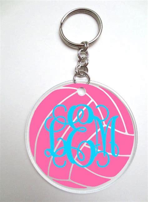 volleyball monogram keychain custom keychain backpack tag diaper bag tag luggage tag gift