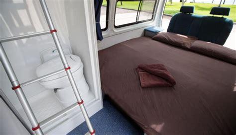 motorhome campervan rv rental person bathroom