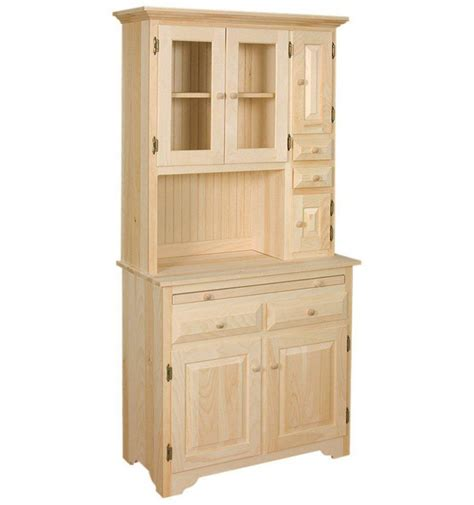 Hoosier Cabinet Reproduction Amish by 36 Inch Hoosier Cabinet Burr S Unfinished Furniture