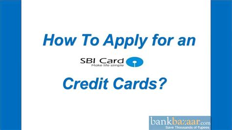 How To Apply For An Sbi Credit Card ? Youtube