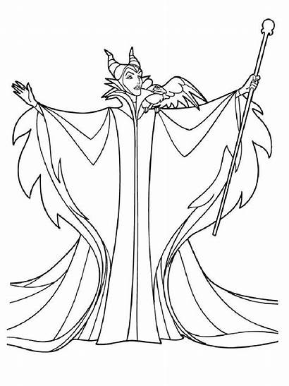Sleeping Coloring Beauty Pages Disney Maleficent Printable