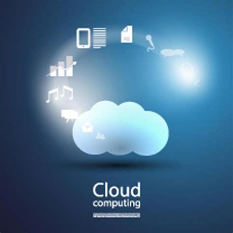 cloud hosting cloud computing vector templates