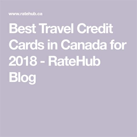 Before we begin dissecting 2021's best travel credit cards in canada, let us cut to the chase and say: The best travel credit cards in Canada for 2020   Best travel credit cards, Travel credit cards ...