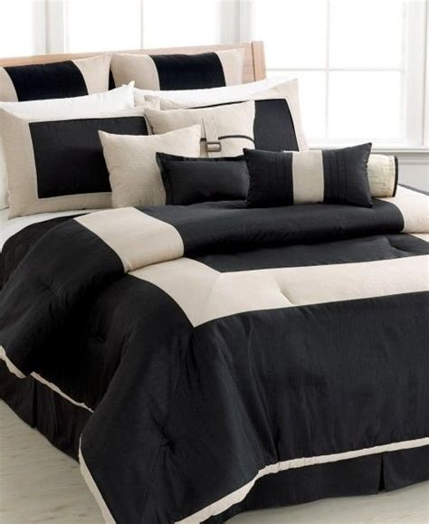 sanders park avenue  piece king comforter set black tan