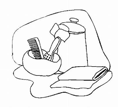Bathroom Accessories Coloring Pages