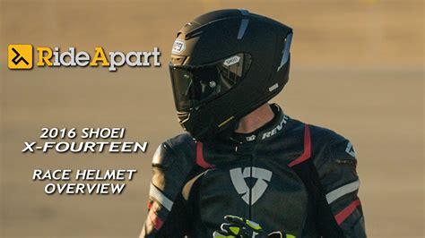 shoei  fourteen race helmet overview stereo youtube