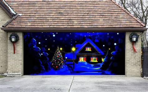 christmas garage door cover christmas from amazon christmas