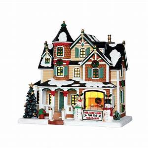 Maison De Noel Miniature : maison lumineuse propri t d cor e pour no l lemax caddington la magie des automates ~ Nature-et-papiers.com Idées de Décoration
