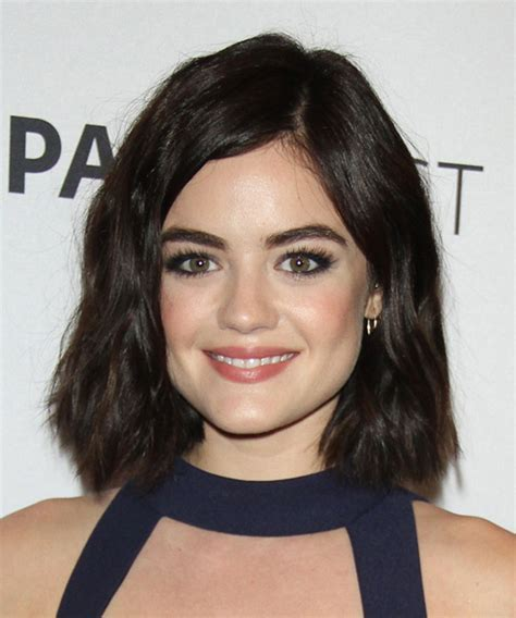 Lucy Hale Medium Wavy Casual Hairstyle
