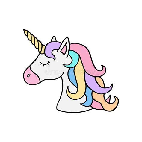 illustrazione variopinta della testa s dell unicorno dell arcobaleno illustrazione