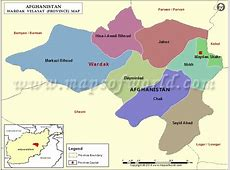 Wardak Map, Map of Wardak Province Velayat, Afghanistan