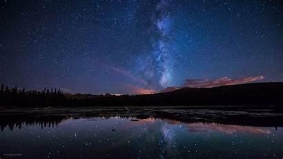 Milky Way Stars Lake Wallpapers Desktop Backgrounds