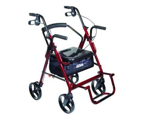 drive duet rollator transport chair combo duet rollator transport chair blue
