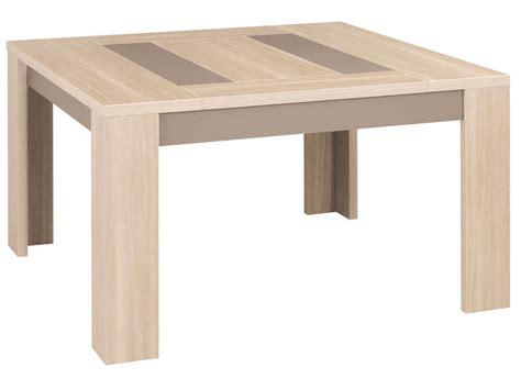 table cuisine chene table carrée 130 cm atlanta coloris chêne clair vente de