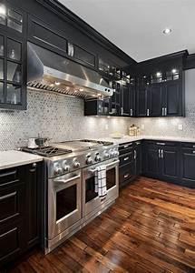 Elegant, Black, Kitchen, Design, 80, U2013, Home, And, Apartment, Ideas