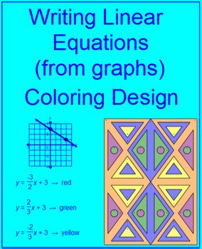 linear equations writing  graphs  coloring