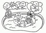 Coloring Pool Moose Printables Happy Colouring Designlooter 2080 16kb Wuppsy sketch template