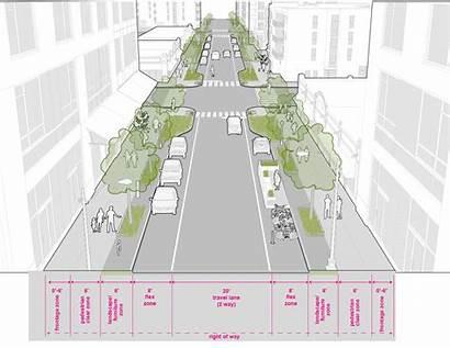 Neighborhood Downtown Street Seattle Access Trees Streetscape