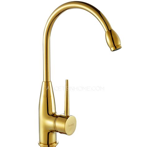 brass faucets kitchen discount polished brass gold vintage rotatable kitchen