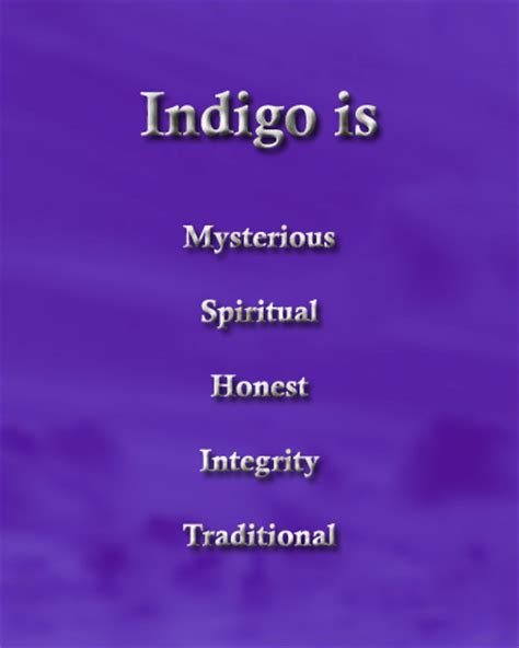 what is the color indigo color indigo color psychology personality meaning