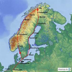 Mit Dem Wohnmobil Durch Norwegen : stepmap mit dem wohnmobil durch skandinavien landkarte ~ Jslefanu.com Haus und Dekorationen