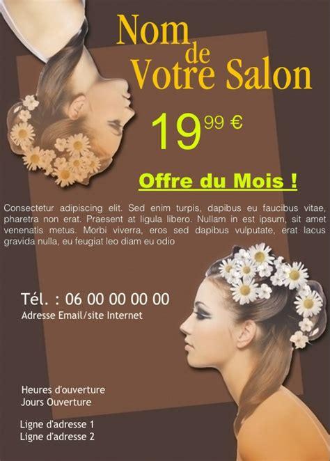modele flyer coiffure  personnaliser gratuit exemple