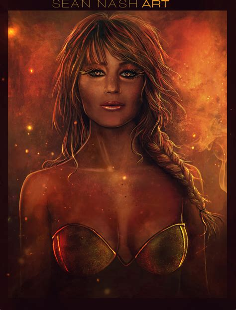 Girl On Fire By Seannash On Deviantart
