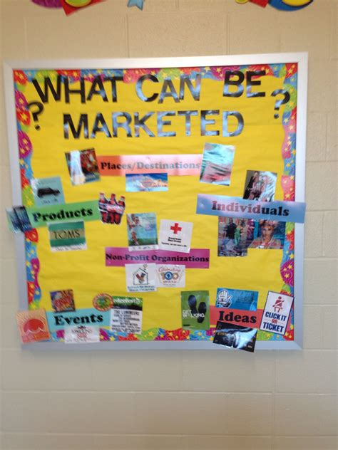 marketing classroom marketing bulletin board i created school business