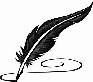 Quill clipart transparent - Pencil and in color quill ...