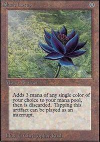 Black Lotus Unlimited Edition Magic The Gathering
