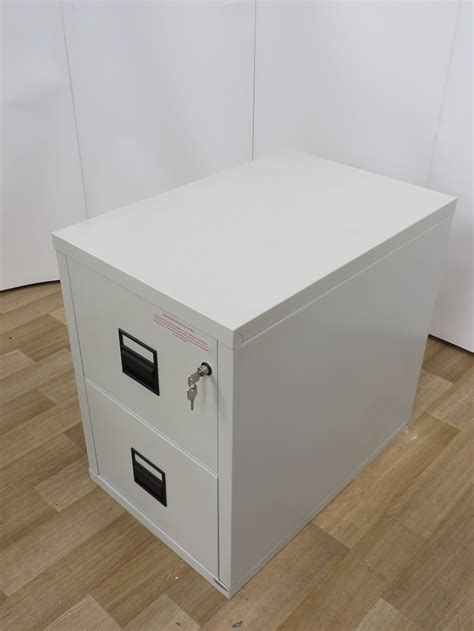 used office storage king 2 drawer fireproof filing cabinet 760h x 540w x 815d
