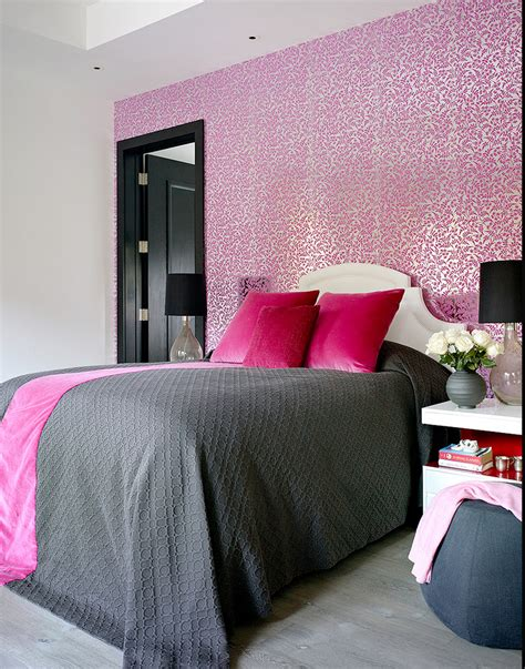 gray pink modern bedroom just decorate