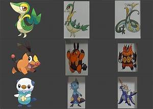Pokemon White Starters Evolutions
