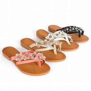 Flip Flops Kaufen : damen sandalen 96805 zehentrenner flower schuhe flip flops ~ Watch28wear.com Haus und Dekorationen